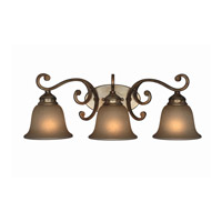 Crystorama Shelby 3 Light Wall Sconce in Distressed Twilight 7523-DT