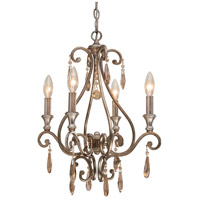 Crystorama Shelby 4 Light Mini Chandelier in Distressed Twilight 7524-DT