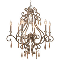 Crystorama Shelby 6 Light Chandelier in Distressed Twilight with Hand Cut Crystals 7526-DT