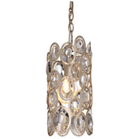 Crystorama Sterling 1 Light Pendant in Distressed Twilight 7580-DT
