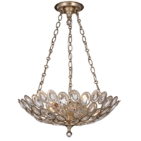 Crystorama Sterling 3 Light Chandelier in Distressed Twilight 7584-DT