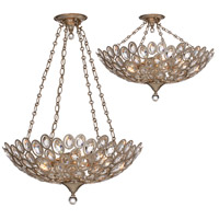 Crystorama 7587-DT Sterling 5 Light 24 inch Distressed Twilight Chandelier Ceiling Light