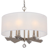 Crystorama 7596-PN Palmer 6 Light 28 inch Polished Nickel Chandelier Ceiling Light