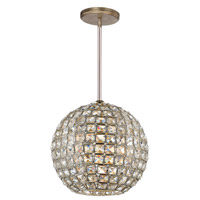 Crystorama 7800-DT Genesis 1 Light 10 inch Distressed Twilight Mini Chandelier Ceiling Light