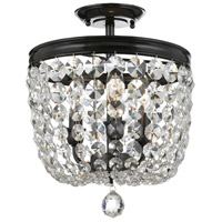 Archer 3 Light 12 inch Vibrant Bronze Semi Flush Mount Ceiling Light in Vibrant Bronze (VZ), Clear Swarovski Strass