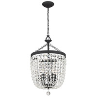 Crystorama 785-BF-CL-MWP Archer 5 Light 15 inch Black Forged Chandelier Ceiling Light