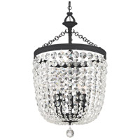 Crystorama 785-BF-CL-SAQ Archer 5 Light 15 inch Black Forged Chandelier Ceiling Light