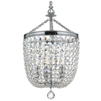 Crystorama 785-CH-CL-SAQ Archer 5 Light 14 inch Polished Chrome Chandelier Ceiling Light in Polished Chrome (CH), Swarovski Spectra (SAQ)