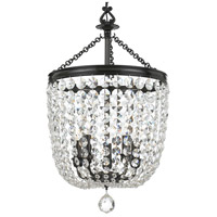 Archer 5 Light 14 inch Polished Chrome Chandelier Ceiling Light in Vibrant Bronze (VZ), Clear Swarovski Strass