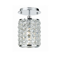 Crystorama Chelsea 1 Light Semi-Flush Mount in Polished Chrome with Hand Cut Crystals 800-CH-CL-MWP