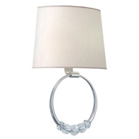 Crystorama Mirage 2 Light Wall Sconce in Polished Nickel 8001-PN