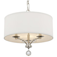 Crystorama 8005-PN Mirage 3 Light 18 inch Polished Nickel Mini Chandelier Ceiling Light
