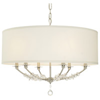 Crystorama Mirage 6 Light Chandelier in Polished Nickel 8006-PN