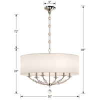Crystorama 8006-PN Mirage 6 Light 30 inch Polished Nickel Chandelier Ceiling Light alternative photo thumbnail