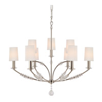 Crystorama Mirage 9 Light Chandelier in Polished Nickel 8009-PN