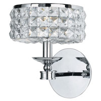 Crystorama Chelsea 1 Light Wall Sconce in Polished Chrome with Hand Cut Crystals 801-CH-CL-MWP