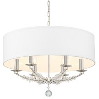 Crystorama 8016-PN Mirage 6 Light 24 inch Polished Nickel Chandelier Ceiling Light