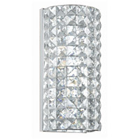 Crystorama Chelsea 2 Light Wall Sconce in Polished Chrome with Hand Cut Crystals 802-CH-CL-MWP