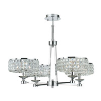 Crystorama 804-CH-CL-MWP Chelsea 4 Light 24 inch Polished Chrome Pendant Ceiling Light