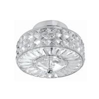 Chelsea 3 Light 10 inch Polished Chrome Semi Flush Mount Ceiling Light in Clear Crystal (CL), Hand Cut, Polished Chrome (CH)
