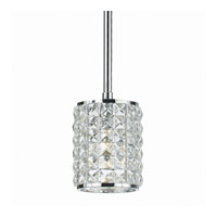 Crystorama Chelsea 1 Light Mini Pendant in Polished Chrome 810-CH-CL-MWP