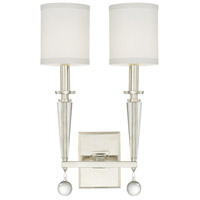 Crystorama Paxton 2 Light Wall Sconce in Polished Nickel 8102-PN