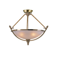 Crystorama Signature 5 Light Pendant in Polished Brass 8104-PB