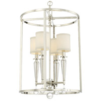 Crystorama 8104-PN Paxton 4 Light 18 inch Polished Nickel Chandelier Ceiling Light