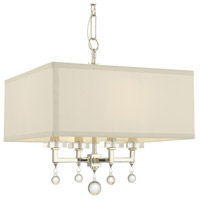Crystorama Paxton 4 Light Convertible Mini Chandelier in Polished Nickel 8105-PN
