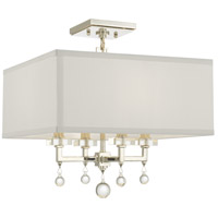 Crystorama 8105-PN_CEILING Paxton 4 Light 16 inch Antique Gold Semi Flush Mount Ceiling Light, Convertible