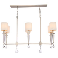 Crystorama Paxton 6 Light Chandelier in Polished Nickel 8106-PN