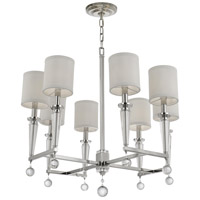 Crystorama Paxton 8 Light Chandelier in Polished Nickel 8108-PN