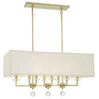 Crystorama 8109-AG Paxton 8 Light 17 inch Antique Gold Chandelier Ceiling Light