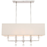 Paxton 8 Light 38 inch Polished Nickel Chandelier Ceiling Light