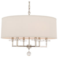 Paxton 6 Light 26 inch Polished Nickel Chandelier Ceiling Light