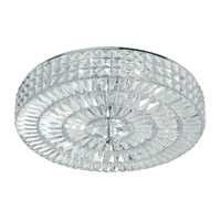 Crystorama 818-CH-CL-MWP Chelsea 6 Light 18 inch Polished Chrome Semi Flush Mount Ceiling Light