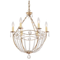 Crystorama 8306-DT Waverly 6 Light 19 inch Distressed Twilight Chandelier Ceiling Light