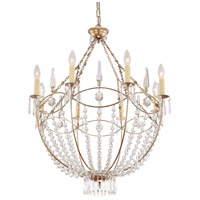 Crystorama 8308-DT Waverly 8 Light 28 inch Distressed Twilight Chandelier Ceiling Light