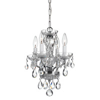 Crystorama Traditional Crystal 4 Light Chandelier in Chrome 8374-CH-CL-MWP