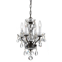 Crystorama Traditional Crystal 4 Light Chandelier in English Bronze 8374-EB-CL-MWP