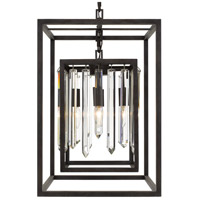 Crystorama 8404-FB Hollis 4 Light 15 inch Forged Bronze Chandelier Ceiling Light