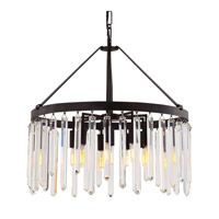 Crystorama Hollis 10 Light Chandelier in Forged Bronze 8406-FB