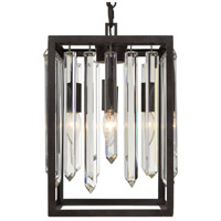 Crystorama 8414-FB Hollis 4 Light 10 inch Forged Bronze Chandelier Ceiling Light