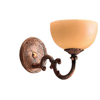 Crystorama 861-BZ Signature 1 Light 6 inch Bronze Wall Sconce Wall Light