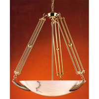 Signature 5 Light 30 inch Polished Brass Chandelier Ceiling Light