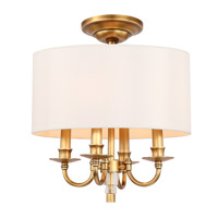 Lawson 4 Light 15 inch Aged Brass Semi Flush Mount Ceiling Light in Aged Brass (AG)