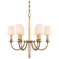 Crystorama 8706-AG Lawson 6 Light 26 inch Aged Brass Chandelier Ceiling Light