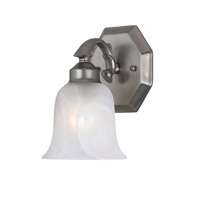 Signature 1 Light 5 inch Satin Nickel Vanity Light Wall Light