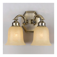 Crystorama Colonial 2 Light Wall Sconce in Aged Brass 872-AG photo thumbnail