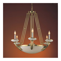 Crystorama Natural Alabaster 6 Light Chandelier in Polished Brass 875-PB